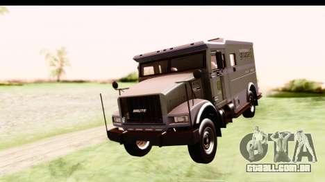 GTA 5 Stockade v2 IVF para GTA San Andreas traseira esquerda vista