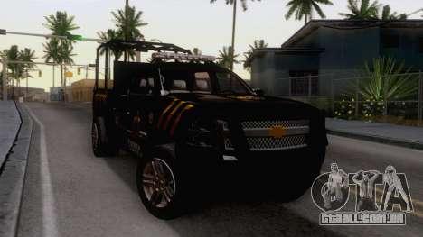Chevrolet Silverado de la Fuerza Coahuila para GTA San Andreas vista direita