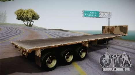 GTA 5 Army Flat Trailer IVF para GTA San Andreas esquerda vista