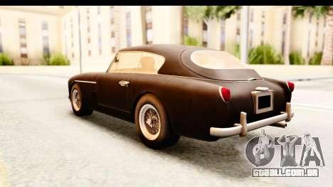 Aston Martin DB2 Mk II 39 1955 para GTA San Andreas vista direita