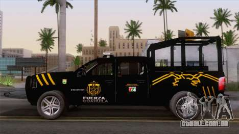 Chevrolet Silverado de la Fuerza Coahuila para GTA San Andreas vista traseira