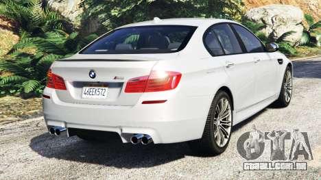 BMW M5 (F10) 2012 [add-on] para GTA 5