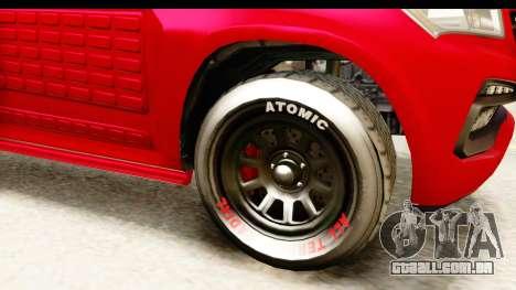 GTA 5 Benefactor XLS Armored IVF para GTA San Andreas vista traseira