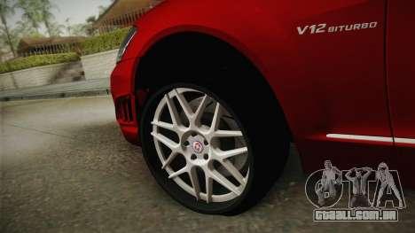 Mercedes-Benz W221 S65 Stance v2 para GTA San Andreas vista traseira
