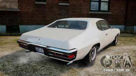 Pontiac LeMans Coupe 1971 para GTA 4 traseira esquerda vista