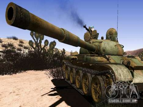 T-62 para GTA San Andreas esquerda vista