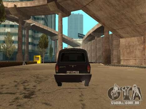 GAZ 310221 para GTA San Andreas vista traseira