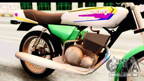Yamaha RX115 Colombia para GTA San Andreas vista traseira