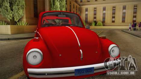 Volkswagen Beetle Escarabajo para GTA San Andreas traseira esquerda vista