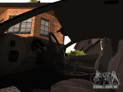 Mitsubishi Eclipse The Fast and the Furious para GTA San Andreas vista traseira