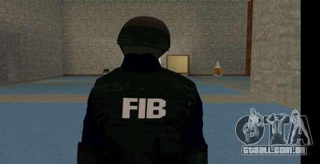 GTA 5 FIB SWAT Blue para GTA San Andreas segunda tela