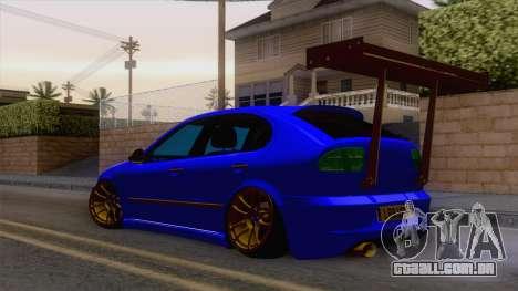 Seat Leon Haur Edition para GTA San Andreas traseira esquerda vista