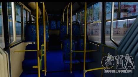 Metrobus de la Ciudad de Mexico Trailer para GTA San Andreas vista traseira