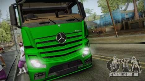 Mercedes-Benz Actros Mp4 6x2 v2.0 Gigaspace v2 para GTA San Andreas traseira esquerda vista