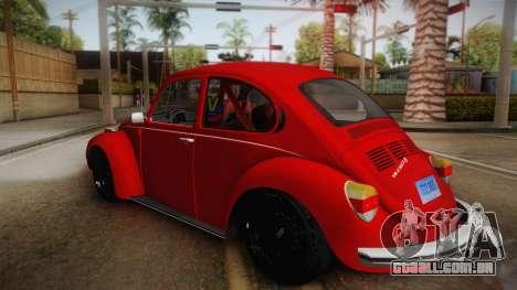 Volkswagen Beetle Escarabajo para GTA San Andreas esquerda vista