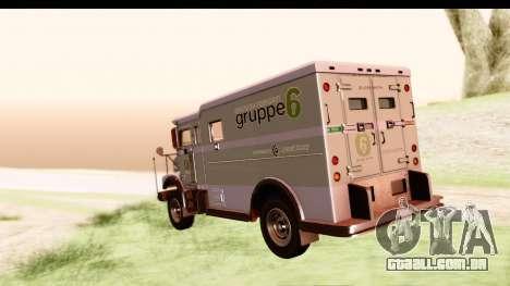 GTA 5 Stockade v2 IVF para GTA San Andreas esquerda vista