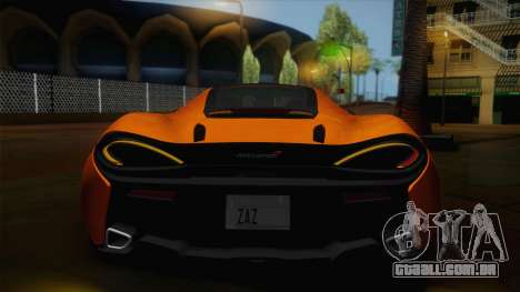McLaren 570GT 2016 para GTA San Andreas vista interior