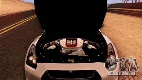 Nissan GT-R R35 para GTA San Andreas vista superior