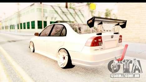 Honda Civic Vtec 2 Berkay Aksoy Tuning para GTA San Andreas vista direita