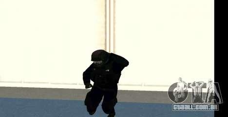 GTA 5 FIB SWAT Blue para GTA San Andreas sexta tela