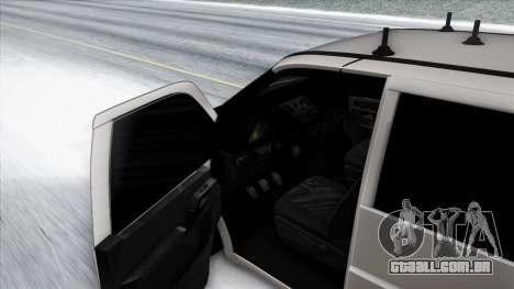Mercedes-Benz Vito para GTA San Andreas vista inferior