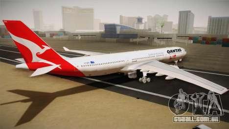 Airbus A330-300 Qantas 80 Years para GTA San Andreas esquerda vista