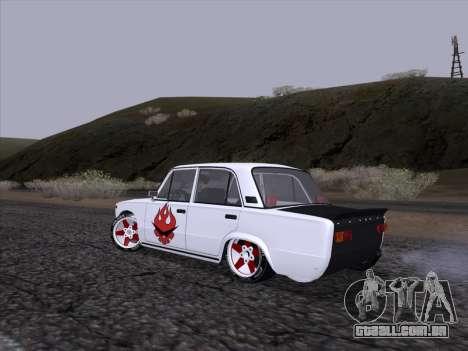 VAZ 2101 para GTA San Andreas vista traseira