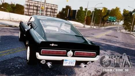 Ford Mustang Shelby GT500 1967 para GTA 4 vista direita