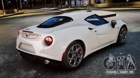 Alfa Romeo 4C 2016 para GTA 4 esquerda vista