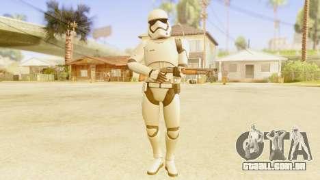 Star Wars Ep 7 First Order Trooper para GTA San Andreas terceira tela