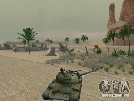T-62 para as rodas de GTA San Andreas