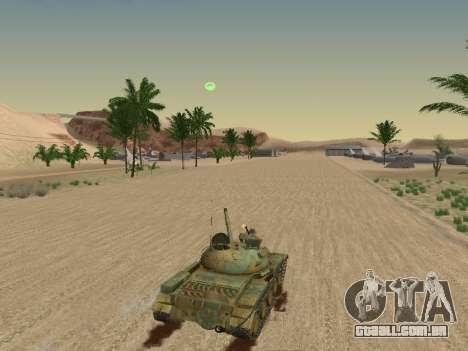 T-62 para GTA San Andreas interior