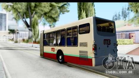 Metrobus de la Ciudad de Mexico Trailer para GTA San Andreas esquerda vista