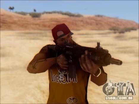 GTA 5 Vom Feuer Carbine Rifle para GTA San Andreas terceira tela