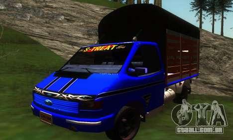 Ford Transit Stylo Colombia para GTA San Andreas esquerda vista