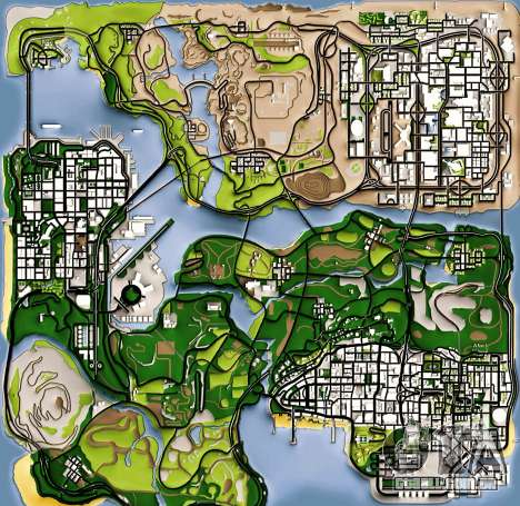 Remaster Map Full Version para GTA San Andreas