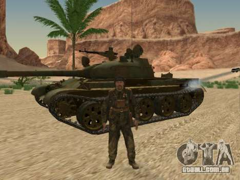 T-62 para vista lateral GTA San Andreas