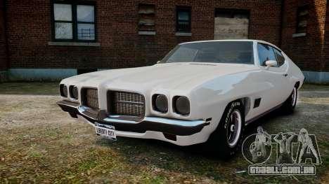 Pontiac LeMans Coupe 1971 para GTA 4 vista de volta