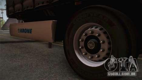 Mercedes-Benz Actros Mp4 v2.0 Tandem Trailer para GTA San Andreas traseira esquerda vista