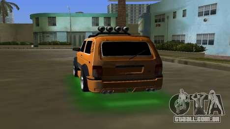 VAZ 21213 NIVA 4x4 Tuning para GTA Vice City vista traseira esquerda