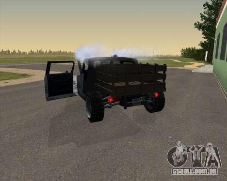 HotBaron para GTA San Andreas traseira esquerda vista
