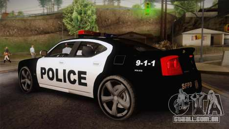 Dodge Charger SRT8 Police San Fierro para GTA San Andreas esquerda vista