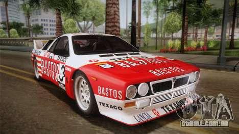 Lancia Rally 037 Stradale (SE037) 1982 HQLM PJ2 para GTA San Andreas esquerda vista