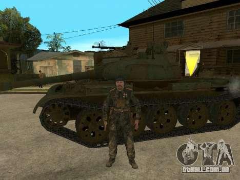 T-62 para GTA San Andreas traseira esquerda vista