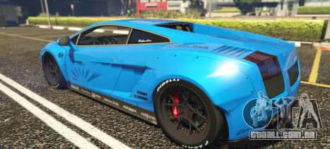 GTA 5 Lamborghini Gallardo Liberty Walk LB Performance vista lateral esquerda