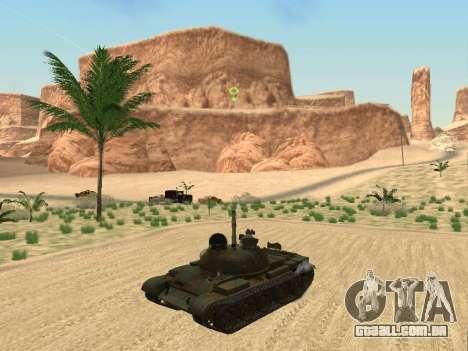 T-62 para GTA San Andreas vista traseira