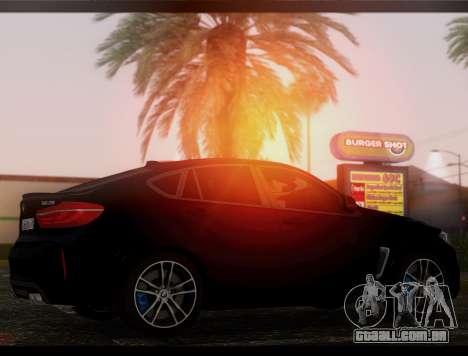 BMW X6M BULKIN ED. para GTA San Andreas esquerda vista
