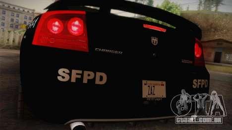 Dodge Charger SRT8 Police San Fierro para GTA San Andreas vista direita