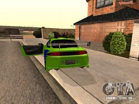Mitsubishi Eclipse The Fast and the Furious para GTA San Andreas traseira esquerda vista