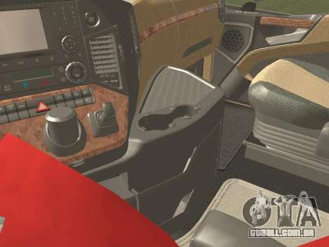 Mercedes-Benz Actros Mp4 6x4 v2.0 Gigaspace v2 para GTA San Andreas vista traseira
